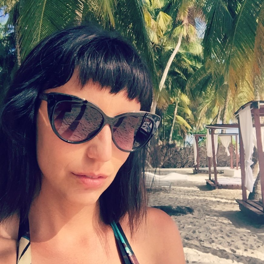 Jessica Peterson of Global Girl Travels in Saona Island, Dominican Republic