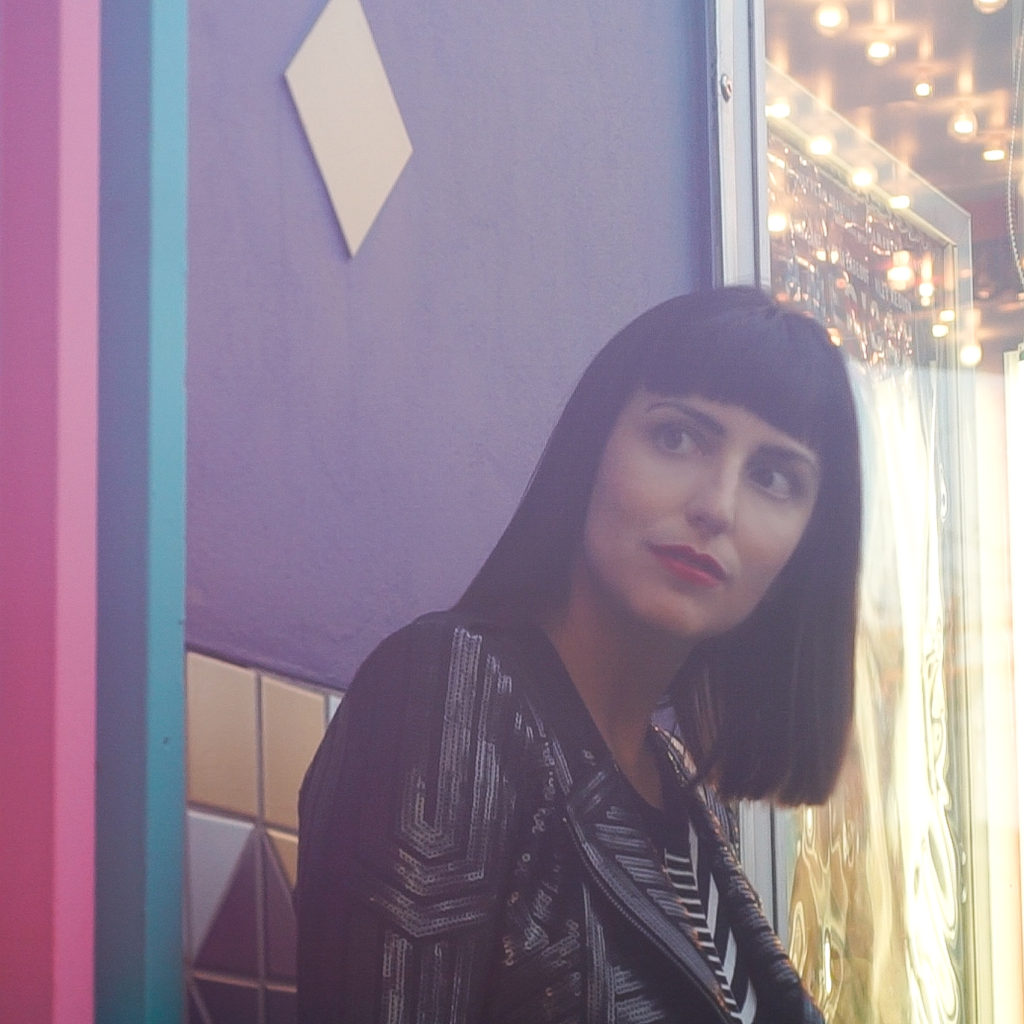 Jessica Peterson of Global Girl Travels at Esquire Theatre in Cincinnati, Ohio