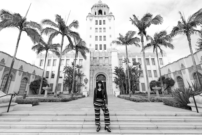 Jessica Peterson of Global Girl Travels in Beverly Hills, California City Hall Civic Center
