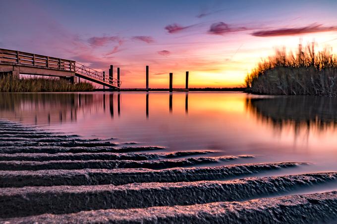 Savannah, Georgia Tybee Island sunset