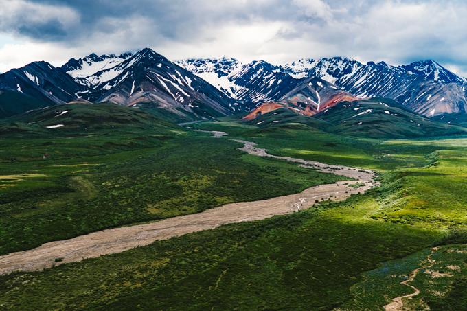 Polychrome Pass at Denali National Park, Alaska