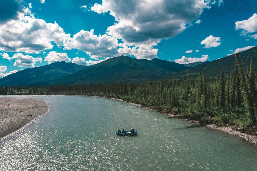 Raft on the Koyukuk River, Alaska