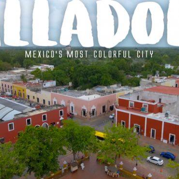 Valladolid, Mexico aerial photograph