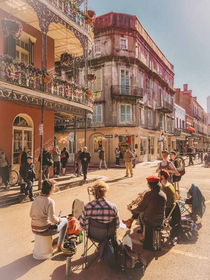 Musicians on Royal Street in New Orleans, Louisiana
